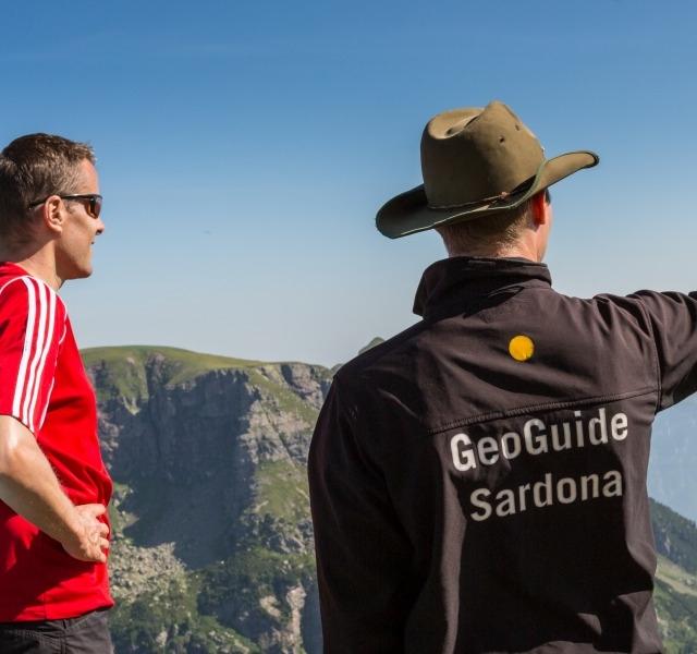 Unterwegs mit dem GeoGuide Sardona