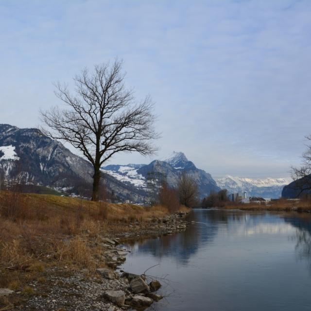 Spaziergang am Alpenrand